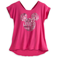 Mickey Mouse Icon Tie Back Tee for Women