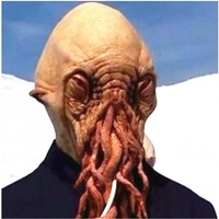 Hot!! Latex Doctor who Wode Star disguise Octopus Mask Masquerade masks party carnival COSPLAY octopus mask Carnaval Costume men