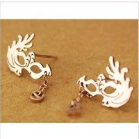 Women's fashion new retro earrings cute party gift girl pendant earrings earrings jewelry