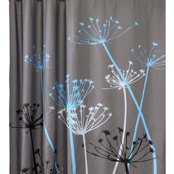 Dandelion Pattern 3D Waterproof Polyester Shower Curtain With 12 Plastic Hooks Bathroom Use rideau de douche cortinas de bano