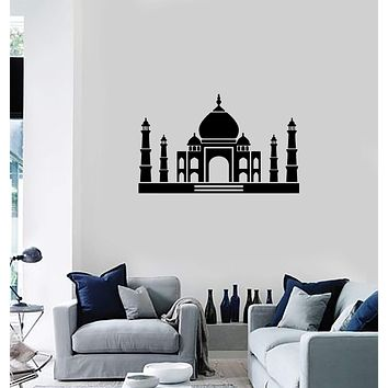 Vinyl Decal Wall Sticker Taj Mahal Mosque India Interior Home Decor Unique Gift (g067)