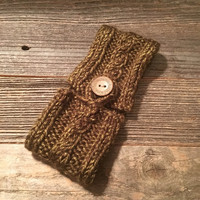 Olive Green Coffee Cozy, Knitted Coffee Cozy, Coffee Holder, Coffee Sleeve, Coffee Lover Gift, Coffee Cup Holder, Coffee Cozies