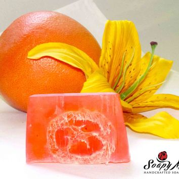 Grapefruit Lily Loofah Soap