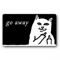 Funny Sarcasm Go Away Floor Mat Doormat Carpet >>>FREE SHIPPING<<<
