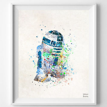BB8 Print, BB8 Poster, BB8 Art, Star Wars Gift, Star Wars Poster, Star Wars Art, Boy Room Decor, Playroom Art, Boy Gift, Christmas Gift