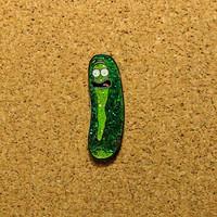 Pickle Rick Hat Pin(FREE SHIPPING/TRACKING)