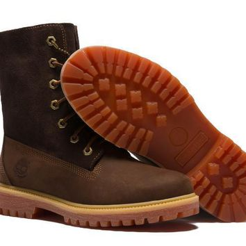 PEAPON Timberland Rhubarb Boots Keep Warm Brown Waterproof Martin Boots