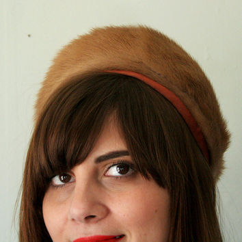 Vintage 1960s Fur Pillbox Hat by FancyThatVintage on Etsy