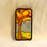 Skinny Love in the Fall, iPhone case, iPhone cover, iPhone 4/4s, Bon Iver, song quote, autumn, fall leaves, unique, one of a kind, zen, men