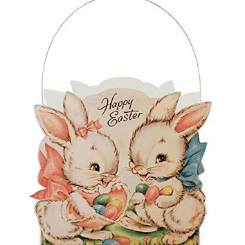 Bethany Lowe Retro Style Sweet Bunnies Easter Container