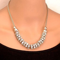 Chic Rhinestone Bauble Necklace