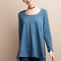 Oil Washed French Terry Flyaway Tunic