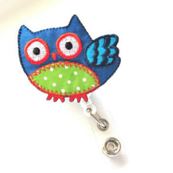 Owl Retractable Badge Reel, Interchangeable Badge Reel