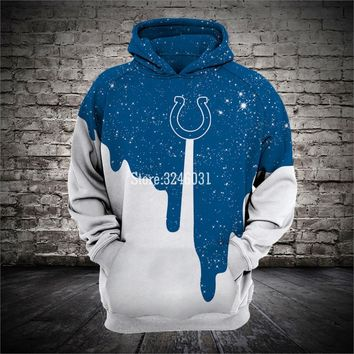 2019 Fashion Men women 3d Sweatshirts Colts skull Hoody Hoodies With Cap Tops for Indianapolis fans gift 003