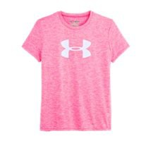 Under Armour Girls' UA Big Logo Twist Tech T-Shirt