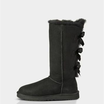 DCCK UGG Bailey Bow Tall Boots 1007308 Black