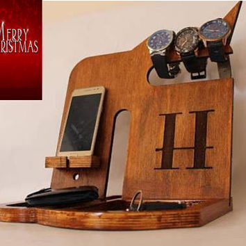 Docking Station, Christmas Gift from Son, Father Christmas Gift, Gifts for Dad, Lover Christmas Gift Personalized Gift for Men's