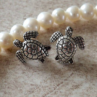 Pair of Turtle Cartilage Earring Body Jewelry Earring Post With Back Earrings