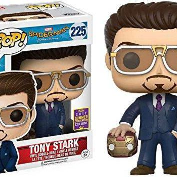 Exclusive Funko pop Official Spiderman - Tony Stark Holding Helmet Vinyl Action Action Figure Collectible Model Toy