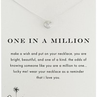 Dogeared One in a Million Sand Dollar Necklace, Sterling Silver