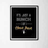 Halloween Hocus Pocus Quote Print