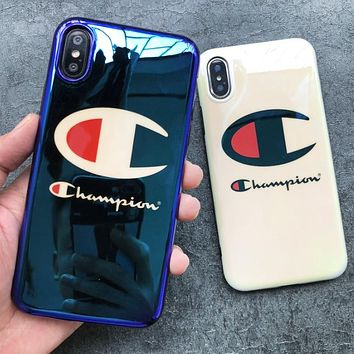 Champion New fashion logo letter print couple protective case phone case