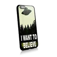 The X Files I Want to Believe for Iphone and Samsung Galaxy Case (iphone 6 plus black)