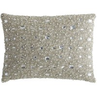 Beaded Lumbar Pillow - Silver