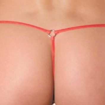 100% Silk Micro G-string with rings