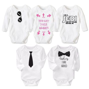 2017 Fashion Newborn Baby Clothes Cotton Long Sleeve Baby Romper 12183fadfc07