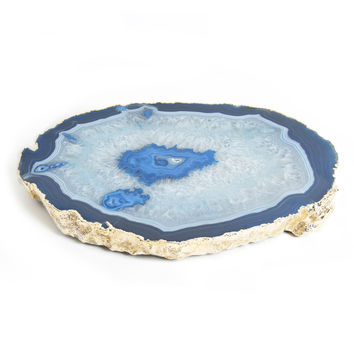 Blue and Gold Agate Trivet