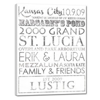 """Typography """"ELITE"""" Series Word Art Personalized Executive Gifts Retirement Custom 18X24"""