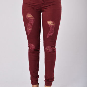 Concrete Jungle Pants - Merlot