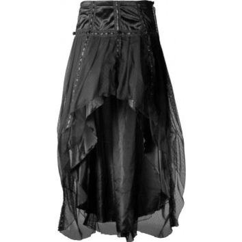 Clairvoyant - long gothic voile skirt by Sinister Clothing
