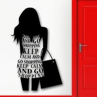 Wall Sticker Vinyl Decal Silhouette Sexy Girl Shopping Fashion Style Unique Gift (ig2253)