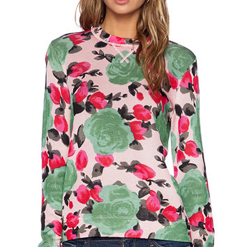 Marc by Marc Jacobs Jerrie Rose Printed Sweater in Pink