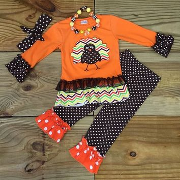 Chevron Polka Dot Turkey Outfit