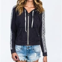 Billabong Start Me Off Zip Up Hoodie - Off Black - JF063STA				 |  			Billabong 					US