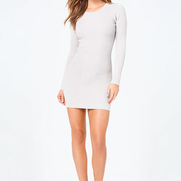 Angelica Back Lace Up Dress | bebe