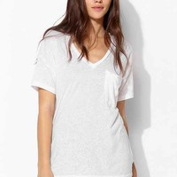Truly Madly Deeply V-Neck Slouch Pocket Tee-