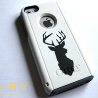 Otterbox iphone 5 case, Iphone 5c case, Glitter case, Iphone cover, custom otterbox iphone 5c, gift, Deer iphone 5c case