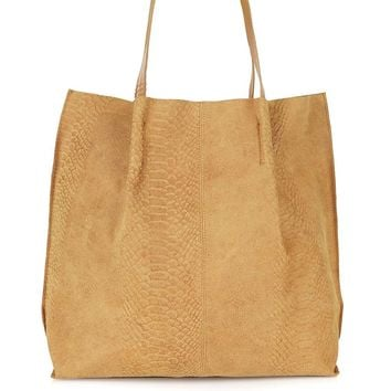 Suede Insert Shopper Bag - Topshop