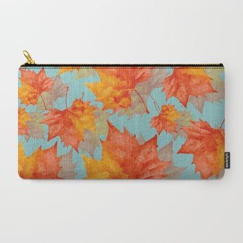 AutumnLeaves Carry-All Pouch by Susana Paz | Society6