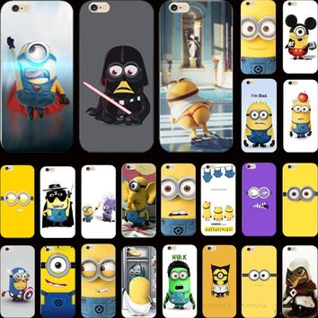 5 5S SE Exquisite Silicon Cover Domineering Despicable Yellow Minion Case For Apple iPhone 5 iPhone 5S SE iPhone5S/5 Cases Shell