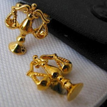 Gold Lawyer Cufflinks (Scales of Justice)