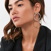 Interlinked Round Drop Earring   Urban Outfitters