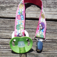 Pacifier Holder, Binky Clip, Pacifier Clip or Toy Clip, Hooting Owls