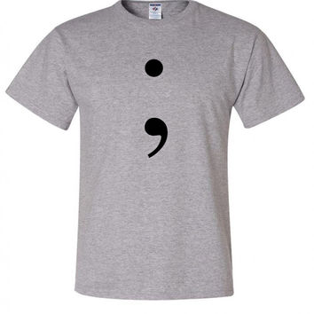 "13 Reasons Why ""Semicolon"" T-Shirt"