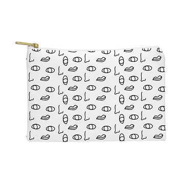 Laura Redburn seeing faces Pouch
