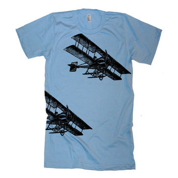 Men's Vintage Fighter Planes T Shirt American by lastearth
